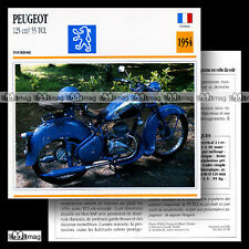 #047.09 PEUGEOT 125 55 TCL 1954 Fiche Moto Classic Motorcycle Card