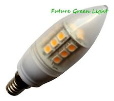 E14 SES CANDLE 24 SMD LED 240V 3.8W 370LM WHITE DIMMABLE BULB ~50W