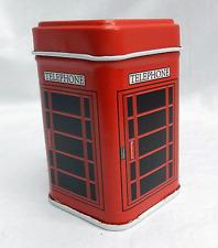 Caja de teléfono roja británica Tin/Caja de la baratija-Estilo Retro-Nuevo Y En Caja