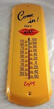 KIST SODA POP WITH RED LIPS GENERAL STORE ADVERTISING ALL METAL THERMOMETER