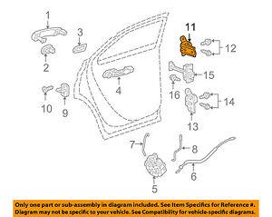 GM OEM Lock -Rear Door-Upper Hinge Left 13501713