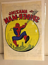 VINTAGE 1970'S UNUSED THE AMAZING SPIDER-MAN IRON ON T-SHIRT DECAL VERY COOL