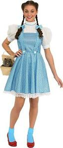 Rubie's Costume Women's Wizard Of Oz Adult Dorothy Dress, Blue/White, Size Large