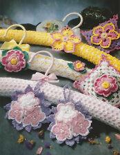 Crochet Pattern ~ FLORAL HANGER COVERS & SACHETS ~ Instructions