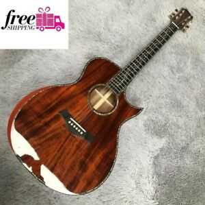 Custom Chaylor SP14 all koa acoustic guitar Real abalone inlays Ebony fingerboar