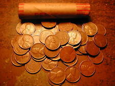 1942-S LINCOLN WHEAT CENT PENNY ROLL, nice condition