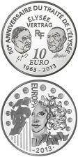 2013 france 10 euro silver 50 Years of the Élysée Treaty proof box