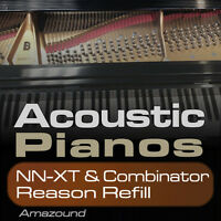 40 ACOUSTIC PIANOS REASON REFILL for COMBINATOR & NNXT 1100+ SAMPLES - PC MAC