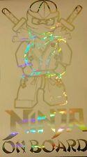 Holographic NINJAGO SUPERHERO LEGO CHILD BABY ON BOARD vinyl sticker sign safety