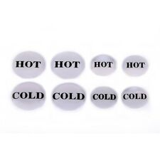 Tap Button Indicator Stickers Hot & Cold 4 Pack 12mm and 16mm Basin & Shower