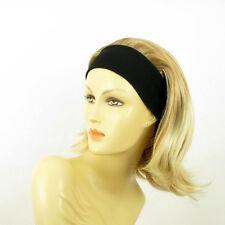 Stirnband Perücke frau mit lang hellblonde Kupfer Docht blond klar XENA 27t613
