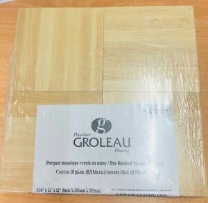 Mosaic Parquet - Prefinished Hard Maple Flooring Covers 10sqf Per Pack(0.93sqm)