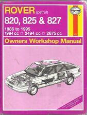 ROVER 820 825 827 INCL 16V , TURBO & VITESSE 1986 - 1995 OWNERS WORKSHOP MANUAL