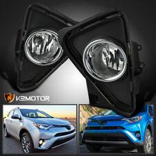 For 2016-2018 Toyota RAV4 Clear Bumper Fog Lights Driving Lamps+Bulbs+Switch