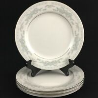 """Set of 4 VTG Bread Plates 7"""" Excel China Somerset Blue Floral and Ribbons"""
