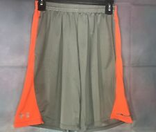 Under Armour Youth Large Orange & Gray Athletic/Basketball Shorts