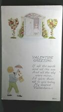 VALENTINE GREETING 1912 Post Card If all the Earth & all the sea & all the sky
