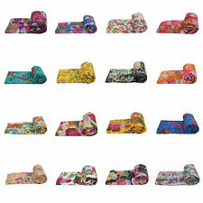 Indian 100% Cotton Kantha Quilt Bohemian Bedspread King/Twin Quilt Throw Decor