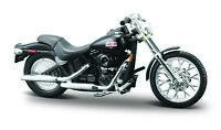 Harley-Davidson 2002 FXSTB Tren de Noche NEGRO M = 1:24 Modelo de Motocicleta