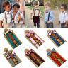 Kids Baby Boys Wedding Matching Braces Suspenders and Luxury Bow Tie Set XIU