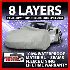 8 Layer Car Cover Indoor Outdoor Waterproof Breathable Layers Fleece Lining 6355