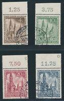 BERLIN 1953, Mi. 106-109 gestempelt, Oberrandsatz! Mi. 230,-- +!