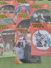 MANCHESTER UNITED HOME PROGRAMMES - 1980 - 81 SEASON -  8 IN TOTAL