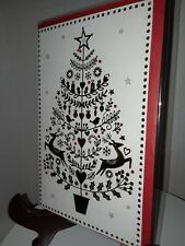 Christmas Card with envelope - New -unused P. S. Greetings Christmas tree
