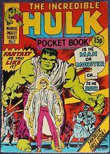 INCREDIBLE HULK #1 & 2~MARVEL COMICS UK~STAN LEE~JACK KIRBY~STEVE DITKO~1980~VF