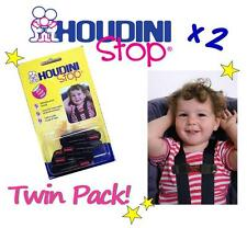 2 x NEW Houdini Stop Baby Car Seat Harness Safety Straps for Toddlers & Children