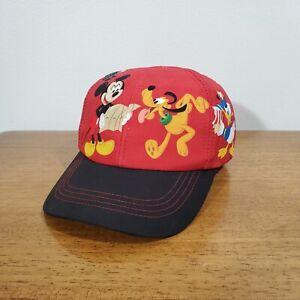 Walt Disney World Micky Mouse Goofy Pluto Donald Duck Infant Baseball Hat Cap