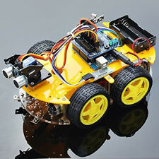 Multi-function 4WD Robot Car Kits Ultrasonic Module UNO R3 Assembly For Arduino