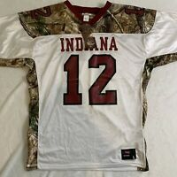 Indiana Hoosiers Football Jersey Realtree Camo Men's Size Large Made in USA