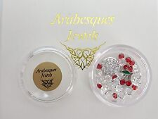 """Pots For Memory/Floating Pendant/Necklace """"Crystal Cherries"""" Arabesques Charm"""