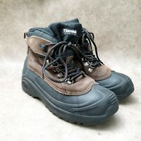 Falls Creek Mens Blizzard 6 Sz 7 M Brown Leather Lace Up Thinsulate Ankle Boots