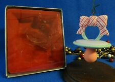 Enesco Treasury Ornament 1987 Baby's First 1st Christmas Hanging Pacifier binky