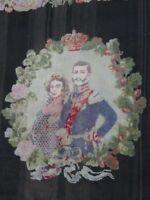 Musealer Hochzeitsteppich/Gobelin mit einem Adeligen Paar als Hauptmotiv um 1890