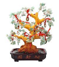 "Feng Shui Green Gem Stone 11"" Money Tree Good Luck / Wealth Decor. Blessing Gift"