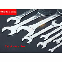1pc Extra Thin 3mm Open Ended Spanner Wrench Set - Sizes 6mm up to 27mm New