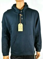 Weatherproof Vintage Mens Hoodie New L Navy Blue Draw Strings Buttons Winter