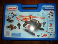 Erector Construction Police Rescue Set 0406 - Eight Different Models