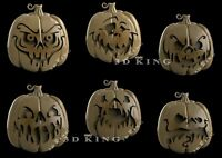 6 Pcs STL 3D Models HELOWEEN PUMPKINS  for CNC Router Aspire Artcam 3D Printer
