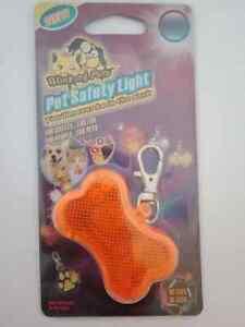 Dog safety light bone shaped orange