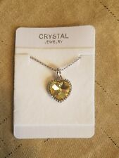 Austrian Crystal heart made with Swarovski Elements Necklace yellow