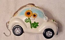 VW NEW BEETLE BUG BIRD HOUSE DECORATION UNIQUE VOLKSWAGEN FLOWER POWER NOS NWOT