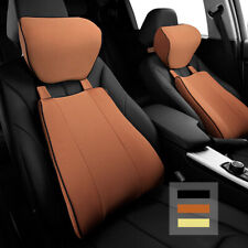 Memory Foam Car Auto Seat Lumbar Support Neck Pillow Office Chair Back Cushion