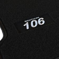 TAPIS SOL PEUGEOT 106 2000-2005 SPORT QUICKSILVER MOQUETTE LOGO BLANC SPECIFIQUE