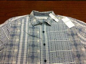 NWT TOMMY BAHAMA XLT 100% SILK Bay Street Blues NEW TAG $158 XL TALL