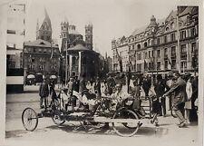 Deux Hollandais font le tour du monde Pays-Bas Vintage argentique ca 1930