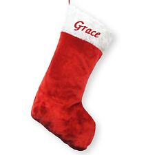 Personalised Deluxe Embroidered Jumbo Xmas Christmas Stocking Sack Luxury Santa
